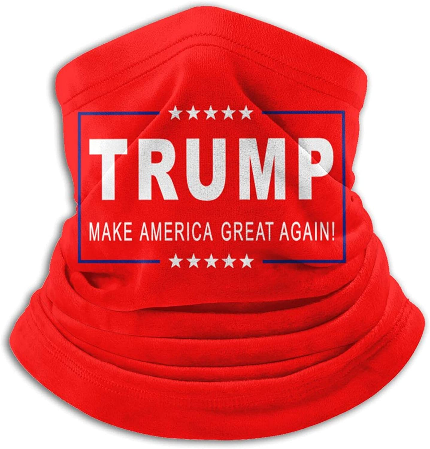 Trump make americagreat again 2020 unisex winter neck gaiter face cover mask, windproof balaclava scarf for fishing, running & hiking