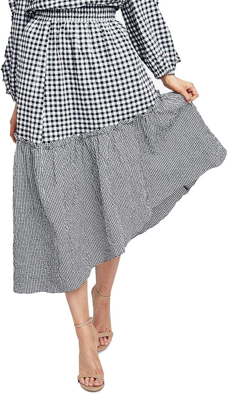 Rachel Rachel Roy Womens HiLow Smocked Asymmetrical Skirt