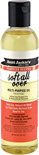 Aunt Jackie's Flaxseed Recipes Soft All Over, Multi-Use Oil for Hair and Body, Enriched with Flaxseed, Avocado, Coconut Oi...