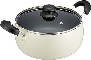 和平フレイズ 麺類にうってつけ! 吹きこぼれにくい 両手鍋 24cm (口径22cm) IH・ガス対応 煮る 茹でる 炊飯 コロージュ RB-1707