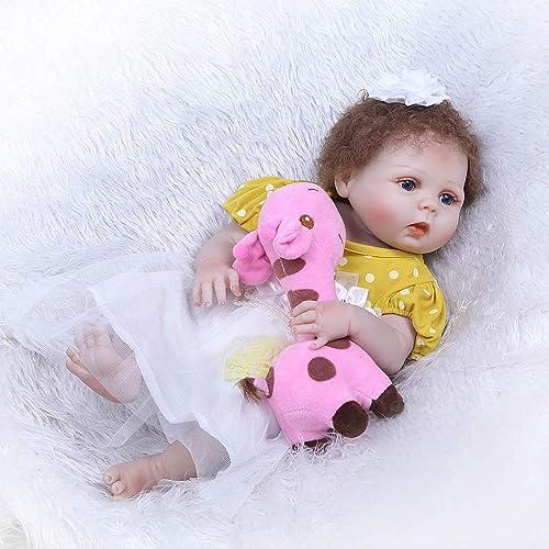 FafalloaGrün Baby-Puppe, 56 cm, Silikon, lebensecht