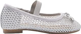 bebe Toddler Girls Ballet Flats Glitter Mesh Slip On Sandals