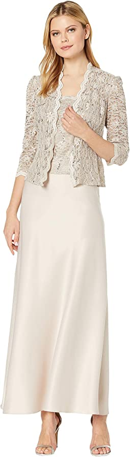936527cc4e96 ... Over Sequin Lace Jacket Dress.  179.00. Taupe