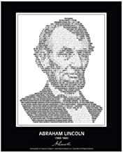 Inspirational Abraham Lincoln Quotes Poster/Portrait. Abraham Lincoln Picture Made of Abe Lincoln Quotes! Wall Art. Home Decor. Print. Photo. 24