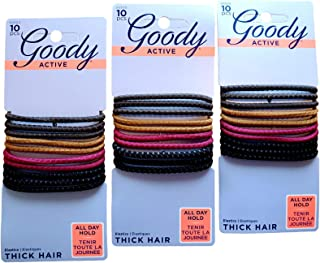 Goody SlideProof High Performance Hair Bands Hair Ties #30300 (EARTHY 3-Pack)