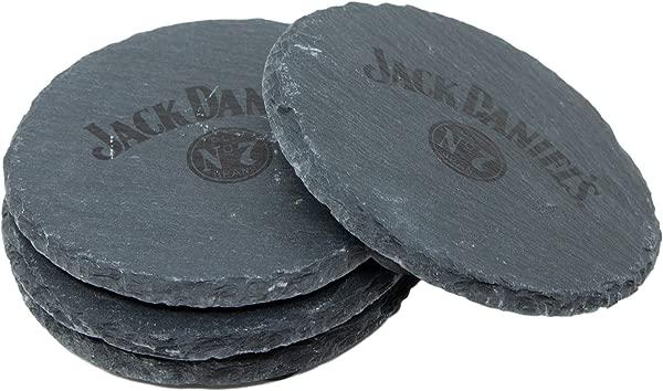 Jack Daniel S Round Slate Coaster Set Set Of 4 Coasters Made From Slate