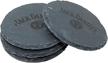 Jack Daniel's Round Slate Coaster Set – Set of 4 Coasters – Made From Slate