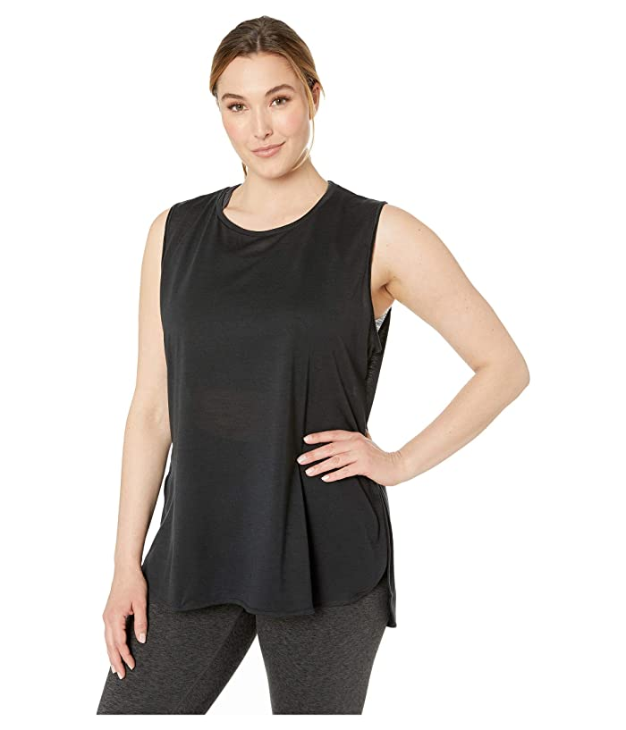 SHAPE Activewear Plus Size Physique High-Low Tank (Black) Women