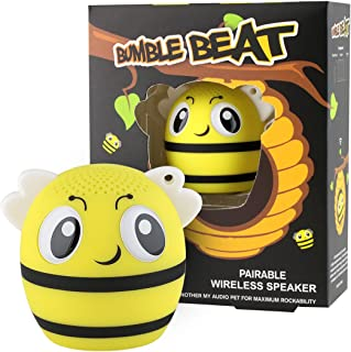 My Audio Pet Bee Mini Bluetooth Animal Wireless Speaker for Kids of All Ages - True Wireless Stereo Technology – Pair with Another TWS Pet for Powerful Rich Room-Filling Sound - (Bumble Beat)