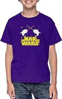 NAR Wars - Narwhal Pun Parody Cute Funny Youth T-Shirt