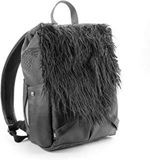 Game of Thrones Jon Snows Backpack - Canvas, Faux Leather and Faux Fur
