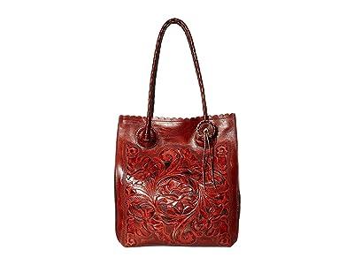 Patricia Nash Cavo Tote (Burnt Orange) Tote Handbags