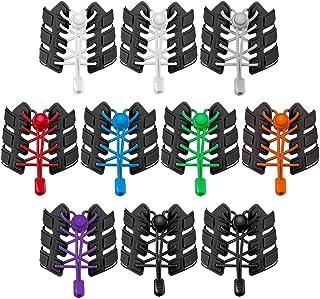 falllea 10 Pares de Cordones Elásticos para Zapatillas Cordones de Zapatos Sin Atar Cordones de Bloqueo para Zapatillas de...