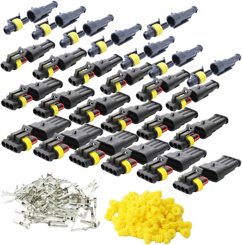 Cesfonjer 15 Set Wasserdicht Schnellverbinder Kabel Elektronik