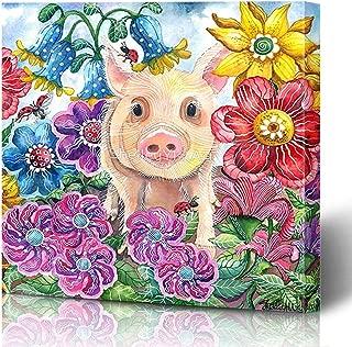 Ahawoso Canvas Prints Wall Art Printing 12x12 Text Gifts Add Mom Newlyweds Tv Typography Flower Mr Room Mum Mrs Chalk Penelope Vinyl Name Pig Black Painting Home Living Room Office Bedroom Dorm