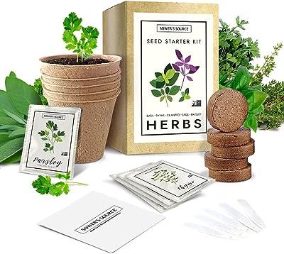 Sower's Source Indoor Herb Garden Starter Kit