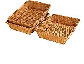 Grandtobuy - Cesta de almacenamiento de mimbre de 40 x 30 x 10 cm, color marrón