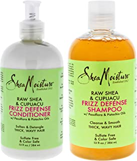 Shea Moisture Raw Shea And Cupuacu Frizz Defense Duo Shampoo And Conditioner For Unisex, 13 Oz.