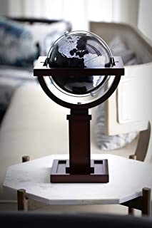 Replogle Globes Mini Wright Globe (gray),Wood Stand Based on Frank Lloyd Wright Design, 6