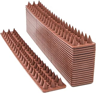 AOVIOANDY Defender Spikes, Cat and Bird Repellent Fence Spikes 20 Feet, Plastic Deterrent Anti Theft Climb Strips to Keep Roosting Pigeons Racoons Away