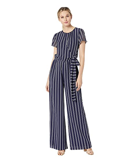 b1da20999e8e MICHAEL Michael Kors Mega Railroad Stripe Jumpsuit at Zappos.com