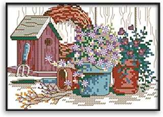 Funchey Cross Stitch Kits Stamped Full Range of Patterns Embroidery Starter Kits for Adult Beginners and Kids DIY Easy Pri...