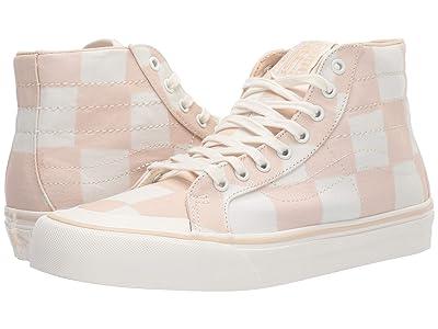 Vans SK8-Hi 138 Decon SF ((Big Check) Macadamia/Marshmallow) Skate Shoes