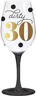 C.R. Gibson QWGO-20898 30' 30th Acrylic Wine Glass, 12 oz, Dirty 30 Birthday