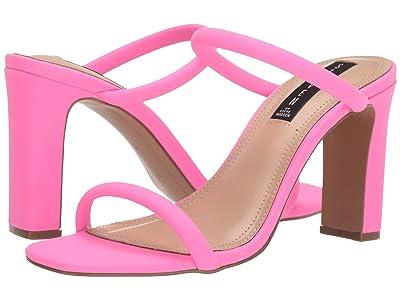 Steven Jersey Heeled Sandal (Pink Neon) Women