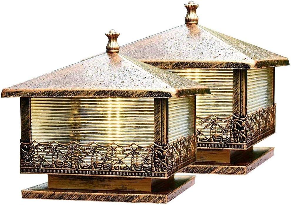 2 レビューを書けば送料当店負担 Pack レビューを書けば送料当店負担 Bronze Antique Post Lamps Iron Pillar Light wi Die-cast