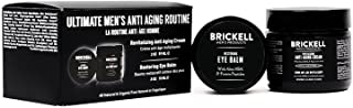 Brickell Men's Ultimate Anti-Aging Routine, Anti-Wrinkle Night Face Cream and Eye Cream to Reduce Puffiness, Wrinkles, Dar...