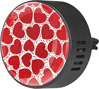 2pcs diffuseur d'aromathérapie diffuseur d'huile essentielle de voiture Clip de ventilation modèle sans couture romantique...