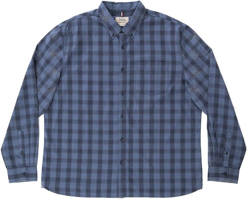 Boston Traders Men's Long Sleeve Dobby Shirt