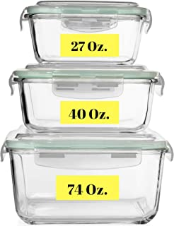 tall glass food storage containers
