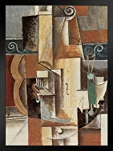 Pablo Picasso Guitar and Violin 1912 Cubist Period Still Life Poster 12x18 Guitar and Violin 1912 Painting Framed in Black...