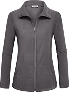 Women's Outdoor Full-Zip Thermal Fleece Jacket with Pockets