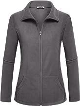 Hibelle Women's Outdoor Full-Zip Thermal Fleece Jacket with Pockets