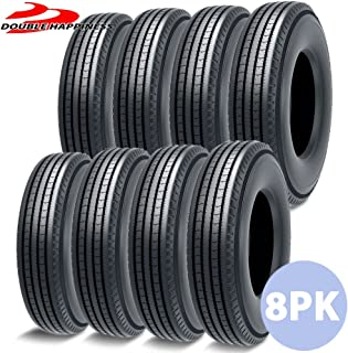 8 PACK Of DOUBLE HAPPINESS DR909 LP 295/75R/22.5 Professional Truck Tires