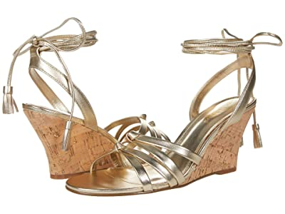 Lilly Pulitzer Casey Wedge (Gold Metallic) Women