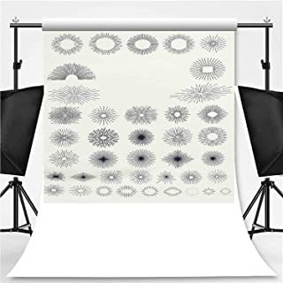 Starbursts Collection for Vintage Retro Logos Photography Backdrop,089006 for Television,Flannelette:5x7ft