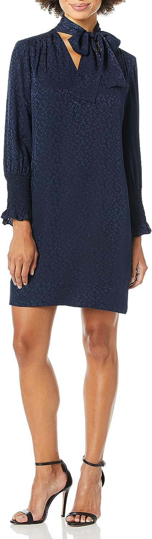 Rebecca Taylor Women's Long Sleeve Cheetah Jacquard Dress