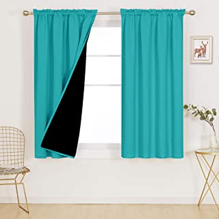 Deconovo Set of 2 Drapes 100% Blackout Room Curtains 63...