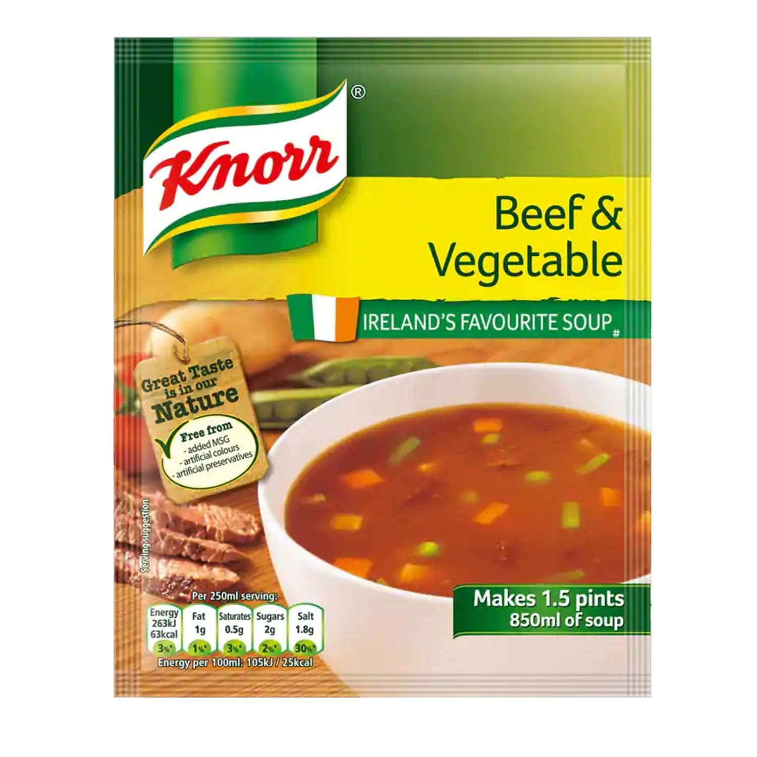 Knorr Beef Vegetable Soup Outstanding Makes 1.5Pints of Pack 2 60g Rapid rise 14x 14