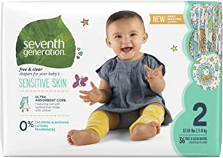Seventh generation Baby Diapers - Stage 2, Size 12- 18 lbs, Pack of 3, 36 Count