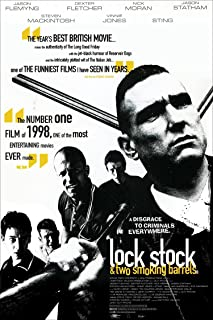 Tomorrow sunny Lock Stock and Two Smoking Barrels movie Poster Art Wall Pictures for Living Room in Canvas fabric cloth Print