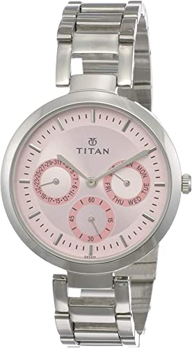Titan Youth Analog Pink Dial Women's Watch NM2480SM05 / NL2480SM05