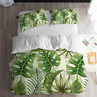 tropical leaf duvet