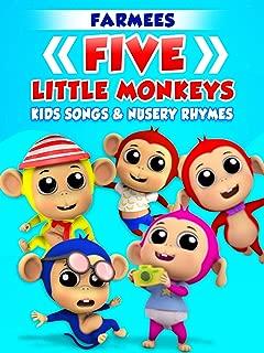 Five Little Monkeys Kids Songs and Nursery Rhymes - Farmees