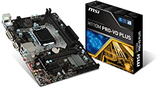 MSI Intel Skylake h110 LGA 1151 DDR4 USB 3. 1 Mini itx Intel- لوحة (h110i Pro تيار متردد) uATX