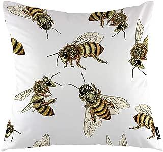 Fodere per cuscini per api a nido d'ape Insetto Animale Dolce Vespa selvatica Decorativo Federa quadrata 45x45cm (18 pollici) Federa Decorazioni per la casa per divano Camera da letto Soggiorno